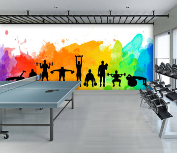3D Group Fitness 290 Wall Murals