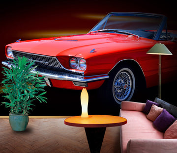 3D Candle Atuo 909 Vehicle Wall Murals