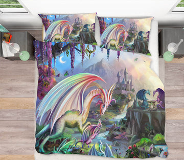 3D Fantasy Valley 111 Rose Catherine Khan Bedding Bed Pillowcases Quilt