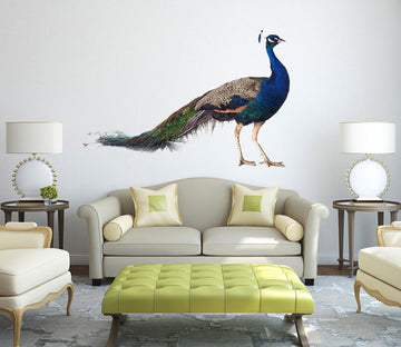 3D Peacock 106 Animals Wall Stickers