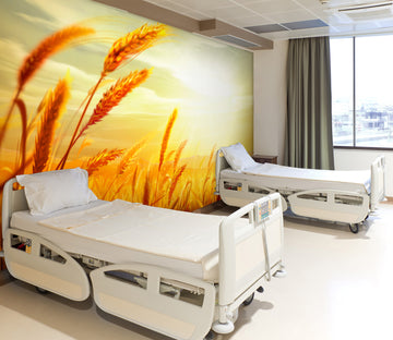3D Sunset Wheat 303 Wall Murals