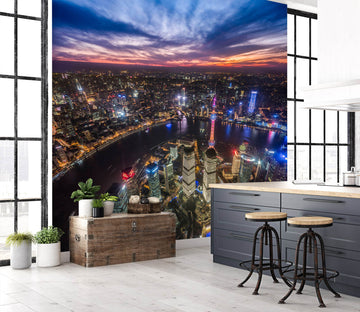 3D River At Night 1427 Marco Carmassi Wall Mural Wall Murals