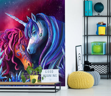 3D Unicorn Secret Garden 1399 Rose Catherine Khan Wall Mural Wall Murals