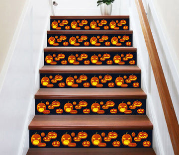 3D Emoticon Jack-o-lantern 658 Stair Risers