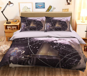 3D Your Lie in April 065 Anime Bed Pillowcases Quilt