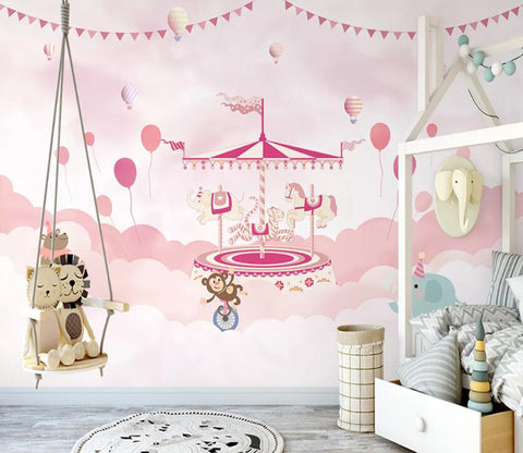 3D  Pink Paradise WC25 Wall Murals