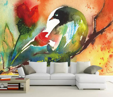 3D Color Bird WG96 Wall Murals