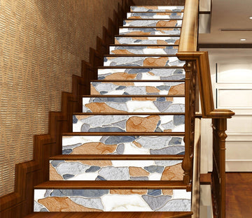 3D Corrosion Mosaic 638 Marble Tile Texture Stair Risers Wallpaper AJ Wallpaper