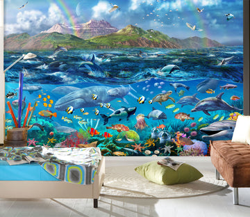 3D Have Fun Swimming 1409 Adrian Chesterman Wall Mural Wall Murals