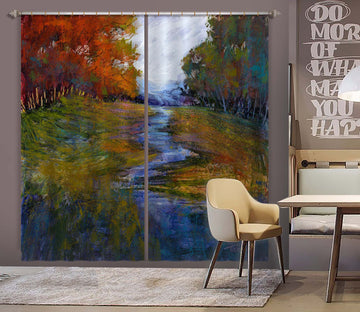 3D Small River Water 249 Michael Tienhaara Curtain Curtains Drapes