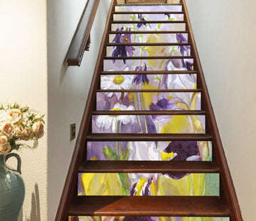 3D Flowers 618 Stair Risers Wallpaper AJ Wallpaper
