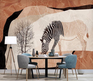 3D Color Split Zebra 2581 Wall Murals