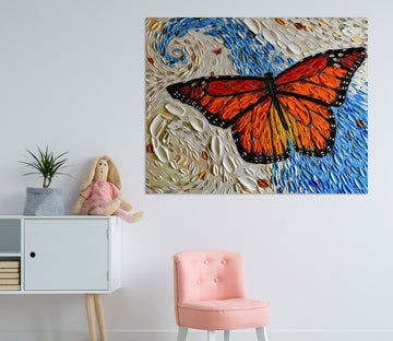 3D Painted Butterfly 030 Dena Tollefson Wall Sticker