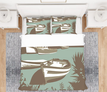 3D Padstow 2033 Steve Read Bedding Bed Pillowcases Quilt