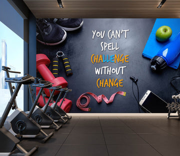 3D Dumbbell Apple 287 Wall Murals