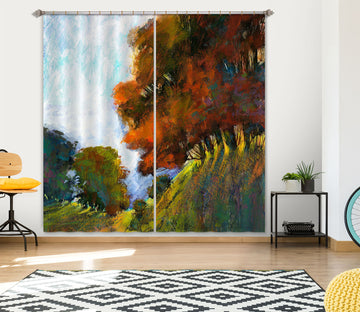 3D Sunny Forest 214 Michael Tienhaara Curtain Curtains Drapes