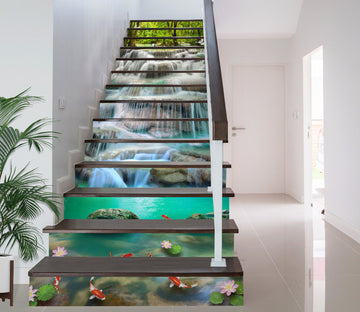 3D Magnificent Beautiful Waterfall 619 Stair Risers