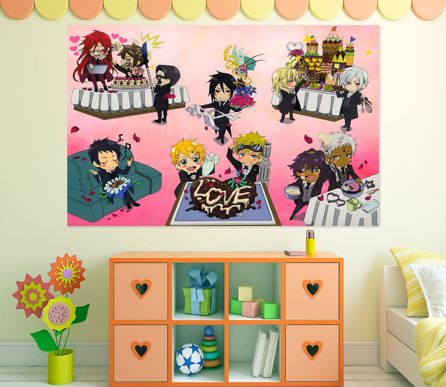 3D Black Butler 613 Anime Wall Stickers Wallpaper AJ Wallpaper 2
