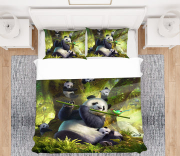 3D Panda Bear 2129 Jerry LoFaro bedding Bed Pillowcases Quilt