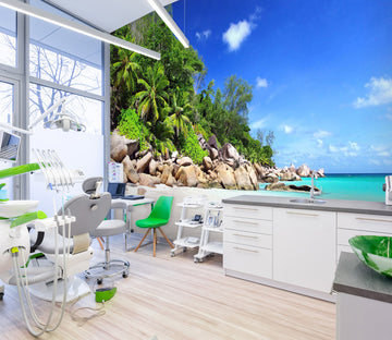 3D Beach Stone 339 Wall Murals