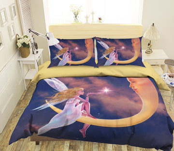 3D Star Kiss 083 Bed Pillowcases Quilt Exclusive Designer Vincent