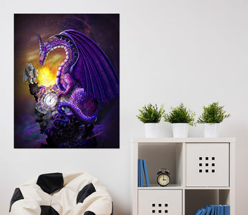3D Valley Dragon 121 Rose Catherine Khan Wall Sticker