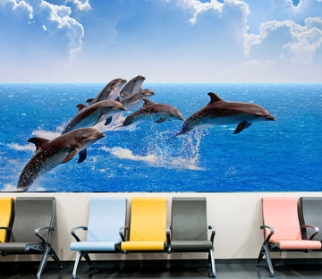 3D Beautiful Dolphin 314 Wall Murals