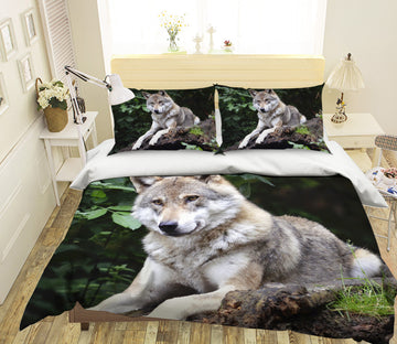 3D Wild Wolf 1954 Bed Pillowcases Quilt