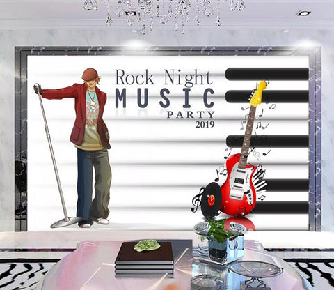 3D Music Pulley WC02 Wall Murals