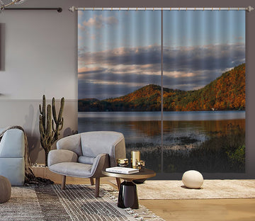 3D Sunset Hill 027 Jerry LoFaro Curtain Curtains Drapes