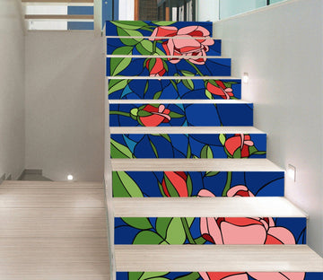 3D Flowers 438 Stair Risers Wallpaper AJ Wallpaper