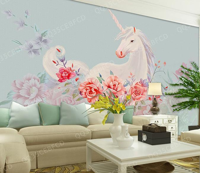 3D Unicorn 129 Wall Murals Wallpaper AJ Wallpaper 2