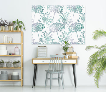 3D Green Flower Pattern 80120 Studio MetaFlorica Wall Sticker
