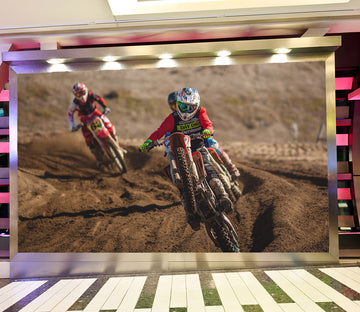 3D Dirt Bike 978 Vehicle Wall Murals