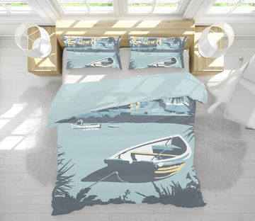 3D Porthleven 2045 Steve Read Bedding Bed Pillowcases Quilt