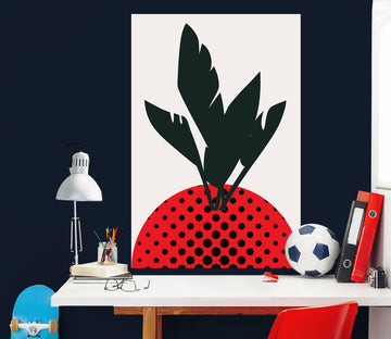 3D Abstract Strawberry 181 Boris Draschoff Wall Sticker