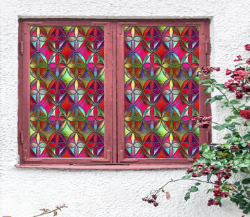 3D Irregular Pattern 205 Window Film Print Sticker Cling Stained Glass UV Block