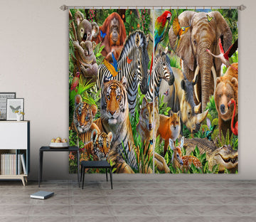 3D Animal World 065 Adrian Chesterman Curtain Curtains Drapes Wallpaper AJ Wallpaper
