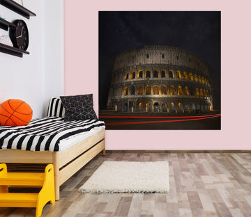 3D Temple At Night 166 Marco Carmassi Wall Sticker