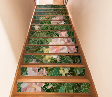 3D Flowers 1794 Stair Risers Wallpaper AJ Wallpaper