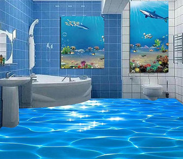 3D Blue Sea WG040 Floor Mural