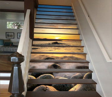 3D Memories Of The Sunset  622 Stair Risers