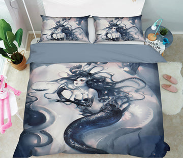 3D Graffiti Mermaid 435 CG Anime Bed Pillowcases Duvet Cover Quilt Cover