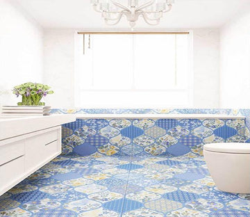 3D Blue Pattern WG053 Floor Mural