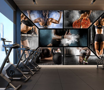3D Crazy Fitness 309 Wall Murals