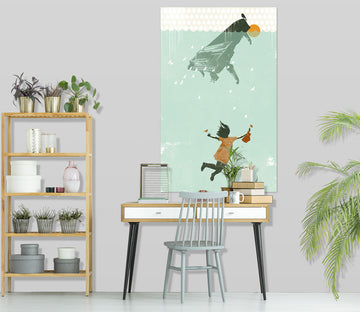 3D Swimming In The Water 028 Showdeer Wall Sticker