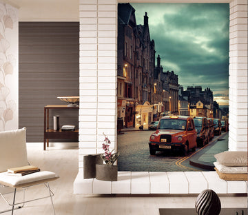3D Taxi Cloud 445 Vehicle Wall Murals