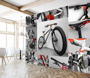 3D Mountain Bike 396 Vehicle Wall Murals