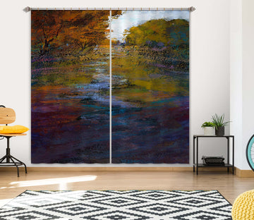 3D Clear River 243 Michael Tienhaara Curtain Curtains Drapes