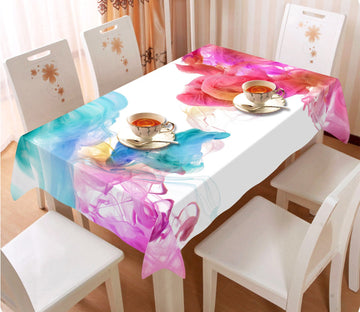 3D Two Color Gouache 4 Tablecloths Wallpaper AJ Wallpaper